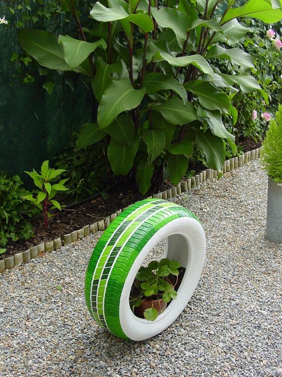 1000 ideas sobre macetas de llantas en pinterest rin de for Jardines originales