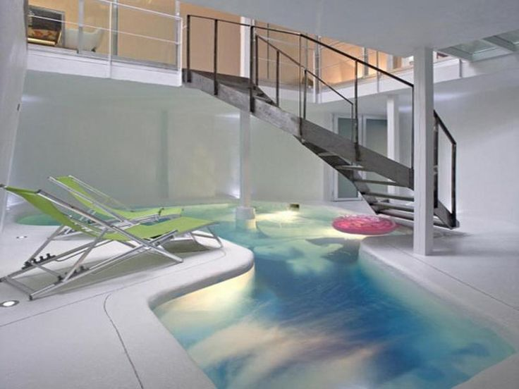 224 best images about indoor pool designs on pinterest for Basement swimming pool ideas