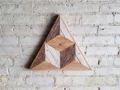 Teruggewonnen hout Wall Art  Hout van de Decor
