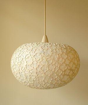 Gorgeous geometric pattern paper lamp from Sachie Muramatsu