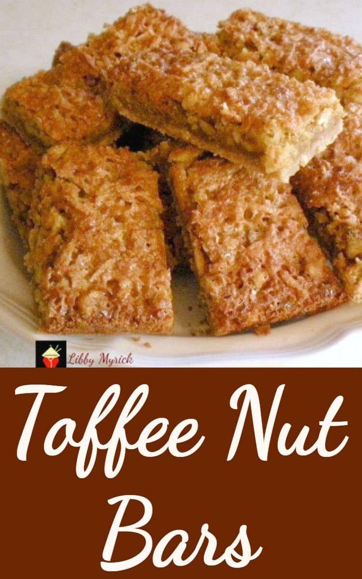 TOFFEE NUT BARS