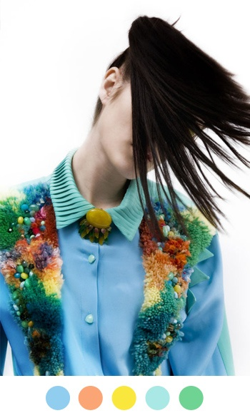 Yes i want this roy g biv latch-hook rug blouse thing! Are those jelly beans stuck in there as well?