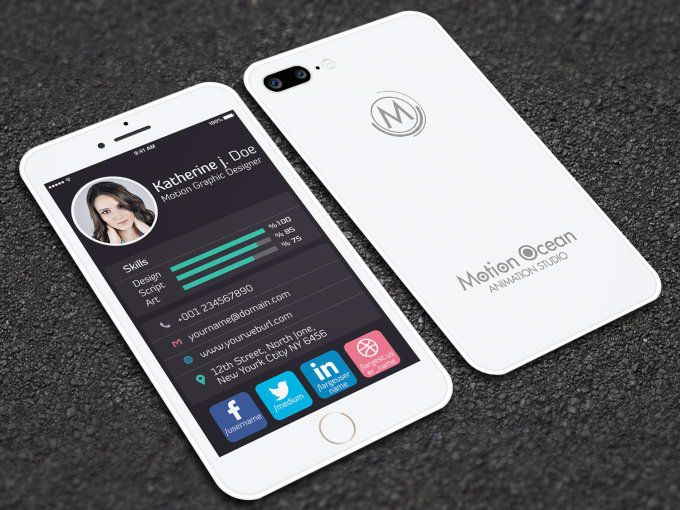Fiverr freelancer will provide Business Cards & Stationery services and Design this iphone style business card print ready including Print-Ready within 2 days