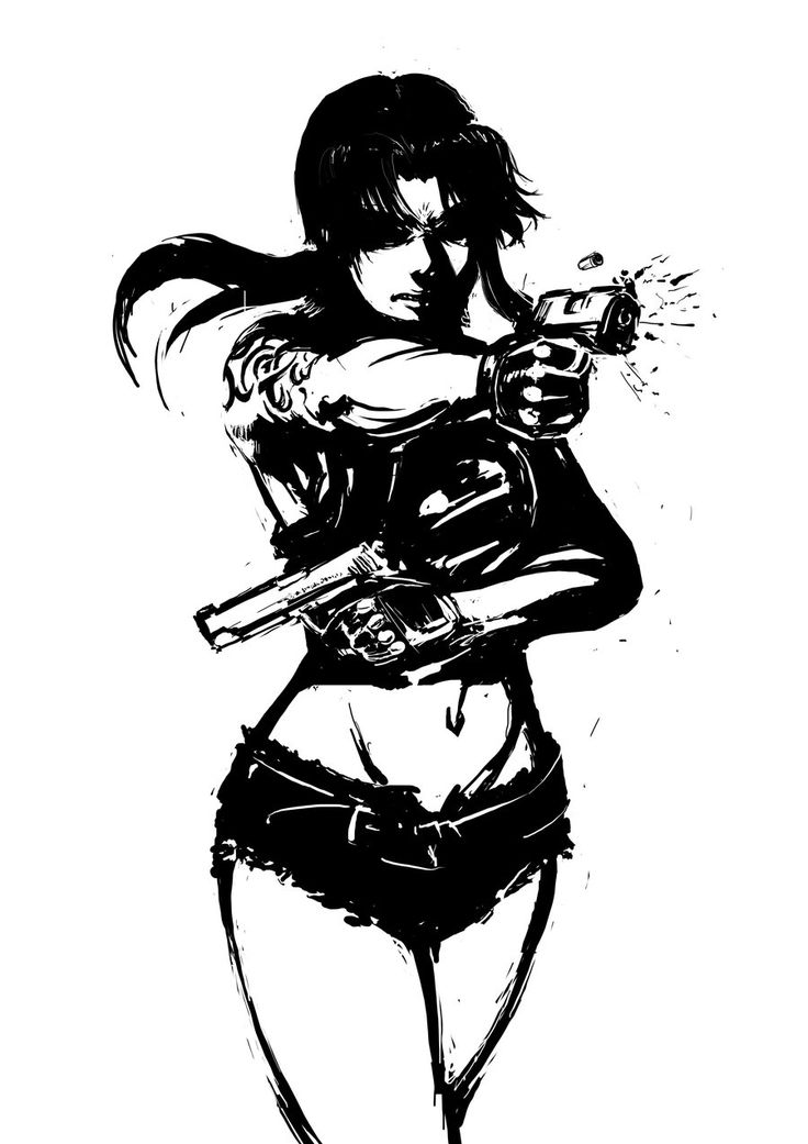 Revy from Black Lagoon by ~AvikMullick on deviantART