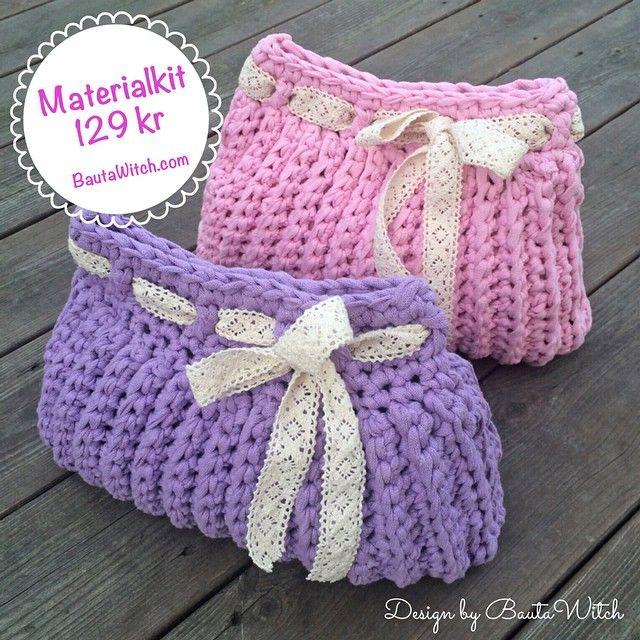 Nu finns mönstret på min necessär i bloggen o kompletta materialkit i min webbshop, om du blir sugen på att virka en!  Garnet är Ribbon XL. #virka #virkning #crochet #diy #garn #bautawitch