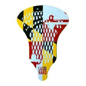 Maryland Flag Lacrosse Sticker