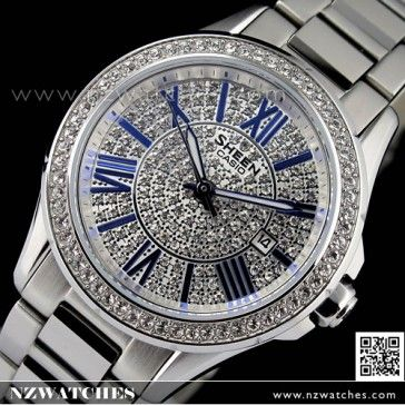 BUY Casio Sheen SWAROVSKI ELEMENTS Sapphire Ladies Watch SHE-4510D-7A, SHE4510D - Buy Watches Online | CASIO NZ Watches