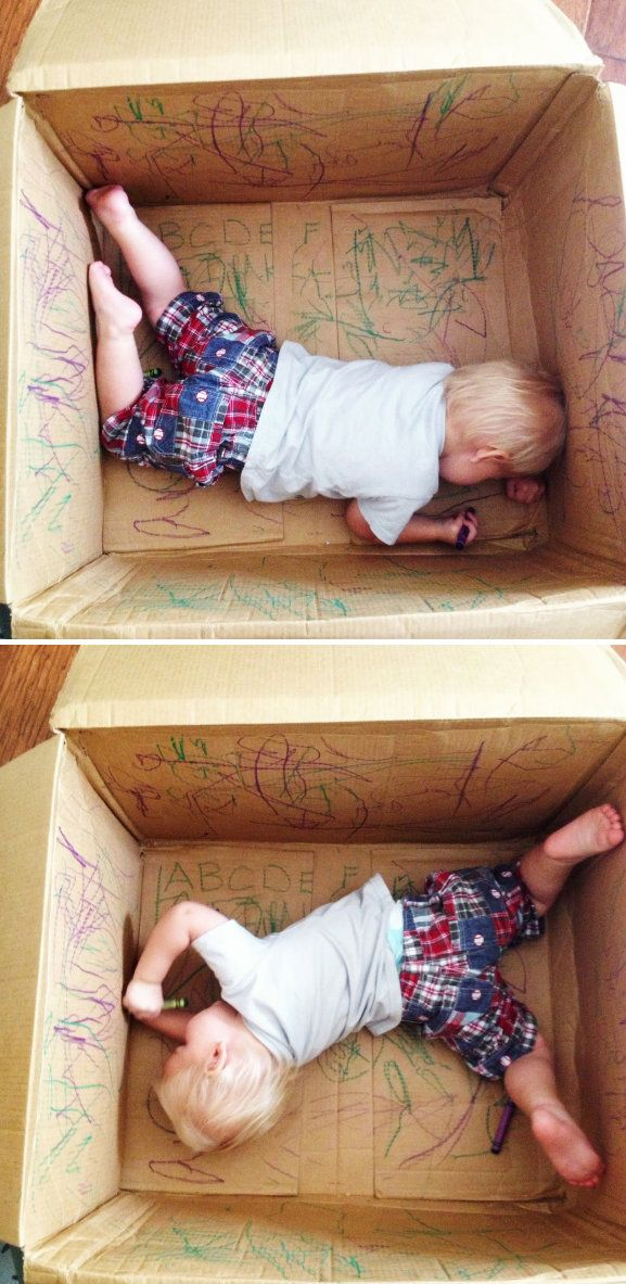 Qual é a criança que não gosta de caixa de papelão? Você pode pegar uma de graça no Bunnings, Coles, Officeworks, etc