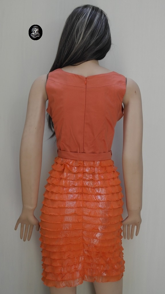 Vestido F naranja