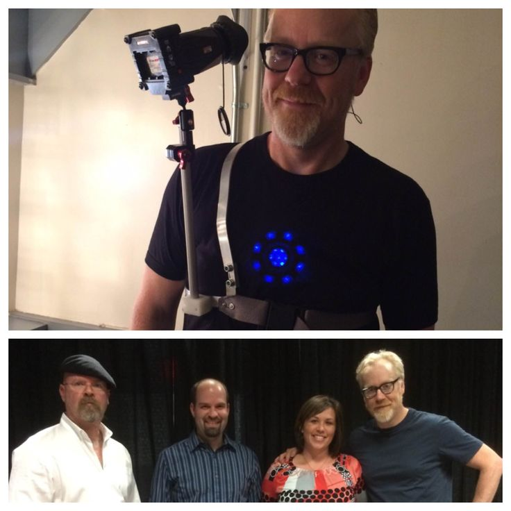 HAPPY FRIDAY!  Fan of Discovery's MythBusters?! Well, our very own VP of Sales and Marketing, Mandy, met up with Jamie Hyneman and Adam Savage. Seems like they are a fan of Zacuto! Here's Adam with his DIY Z-Finder EVF Pro vest! #filmgear #filmproduction #mythbusters