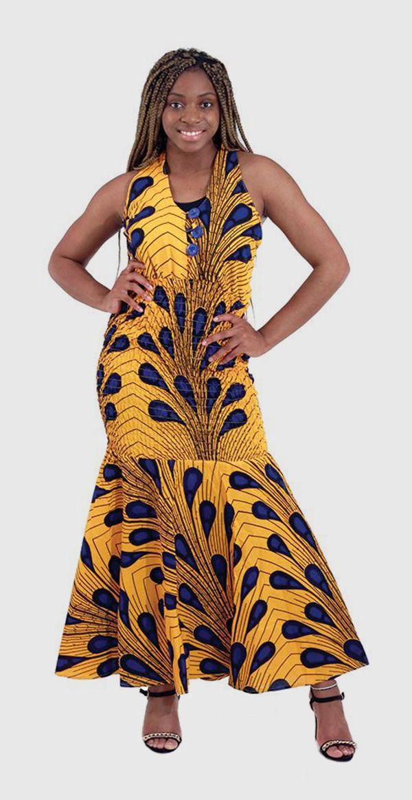 Peacock Design African Print