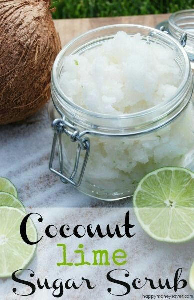 Homemade coconut lime sugar scrub recipe  Www.naturoyu.nl #dôTERRA #EssentialOils #DIY #etherischeoliën #essentiëleolie #aromatherapie #scrub #lime