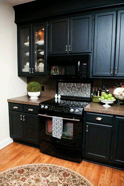 Black cabinets w/ black appliances