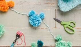 Mickey Mouse Pom Pom Garland