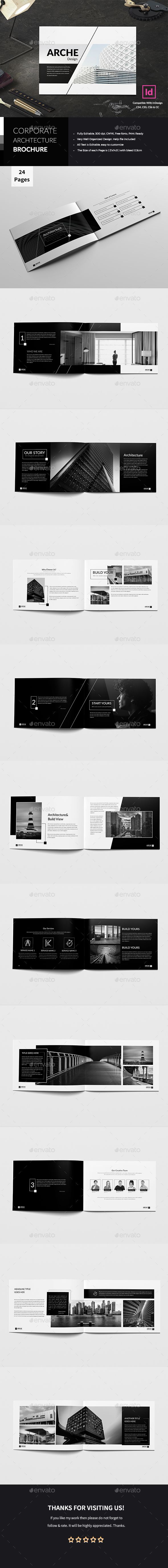 Corporate Architecture Brochure — InDesign INDD #minimal #grey • Available here → https://graphicriver.net/item/corporate-architecture-brochure/20924457?ref=pxcr