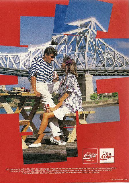 Coca-Cola Ad, Expo 88 Programme  With Storey Bridge in background.