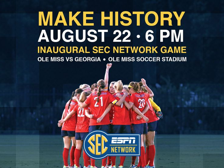 Ole Miss vs. Georgia in women's soccer tonight at 6:00. 1st live televised game on the SEC network.