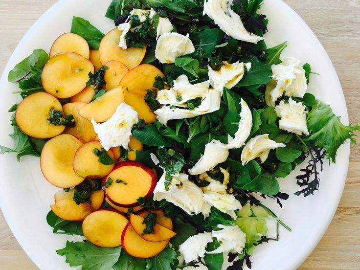 >Recipes>Nectarine Salad with Burrata and Chilli Mint Dressing Nectarine Salad with Burrata and Chilli Mint Dressing
