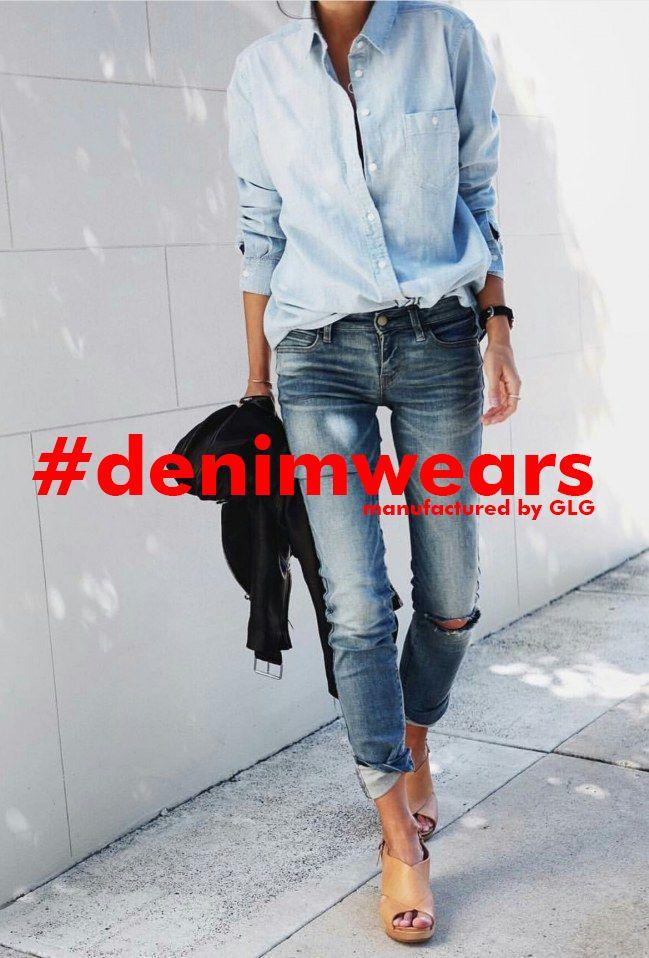 die 25 besten jeanshemd kombinieren ideen auf pinterest gr nes l ssiges kleid handtaschen c. Black Bedroom Furniture Sets. Home Design Ideas