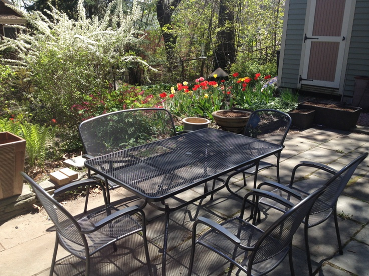 kettler wrought iron outdoor furniture dining set from patio place at ski haus