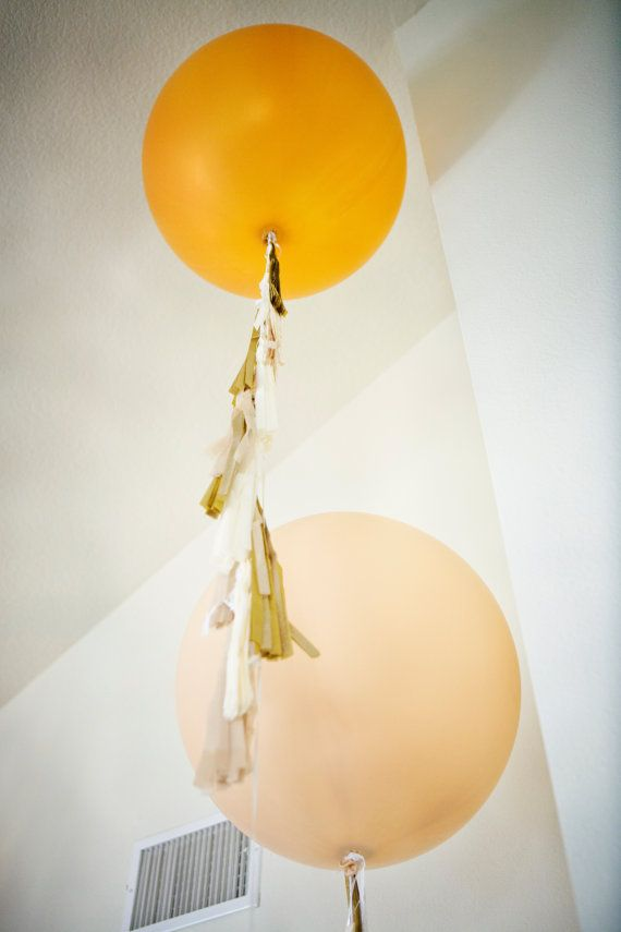 Balloon Tassels Blush by tuckandbonte on Etsy, $30.00
