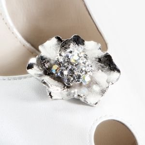 Alloy Flower with Crystals.