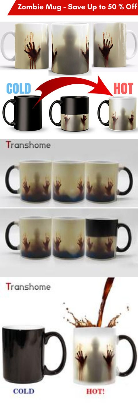 best gifts,Transhome Walking Dead Color Changing Coffee Mug 350ml Bloody Hands Design Heat Sensitive Magic Coffee Mugs Gifts The Right Cup
