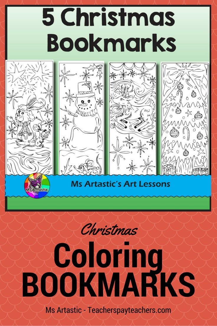 Christmas is just around the corner! Spice up your literacy program with 5 hand drawn, zen doodle, cartoon coloring bookmarks just in time for Christmas! Print and enjoy in your classroom in the weeks leading up to Christmas! There is no better way to enjoy a book that to enjoy it and mark that page with a customized bookmark! Students will love this!