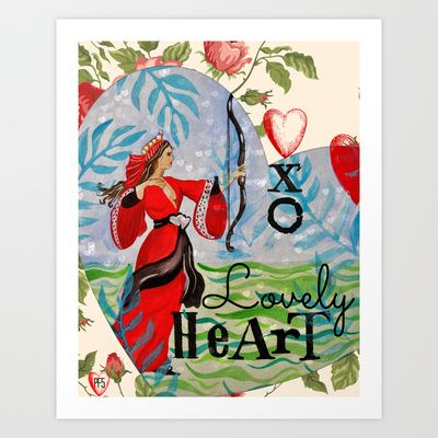 Lovely Heart  Art Print by Patti Friday - $17.68
