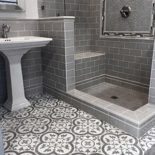 Top 60 Best Grey Bathroom Tile Ideas Neutral Interior Designs Small Bathroom Tiles Grey Bathroom Tiles Trendy Bathroom Tiles