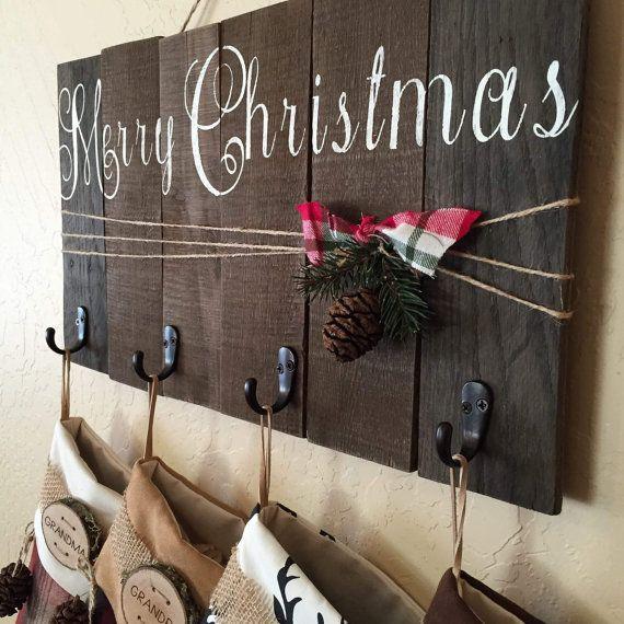christmas stocking holder christmas stocking by OhHappyDayCo
