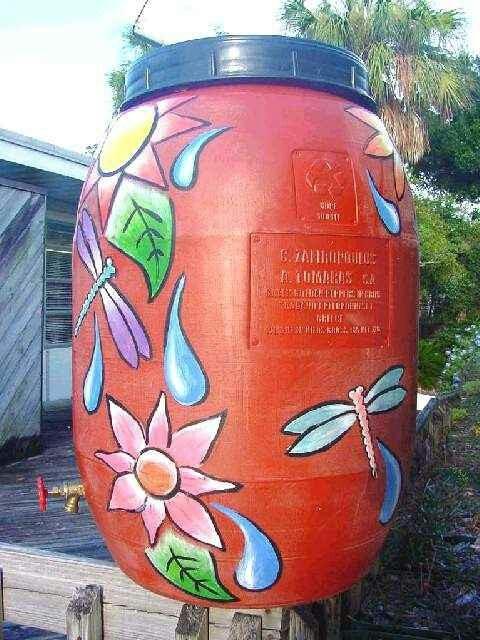 Decorative Rain Barrels