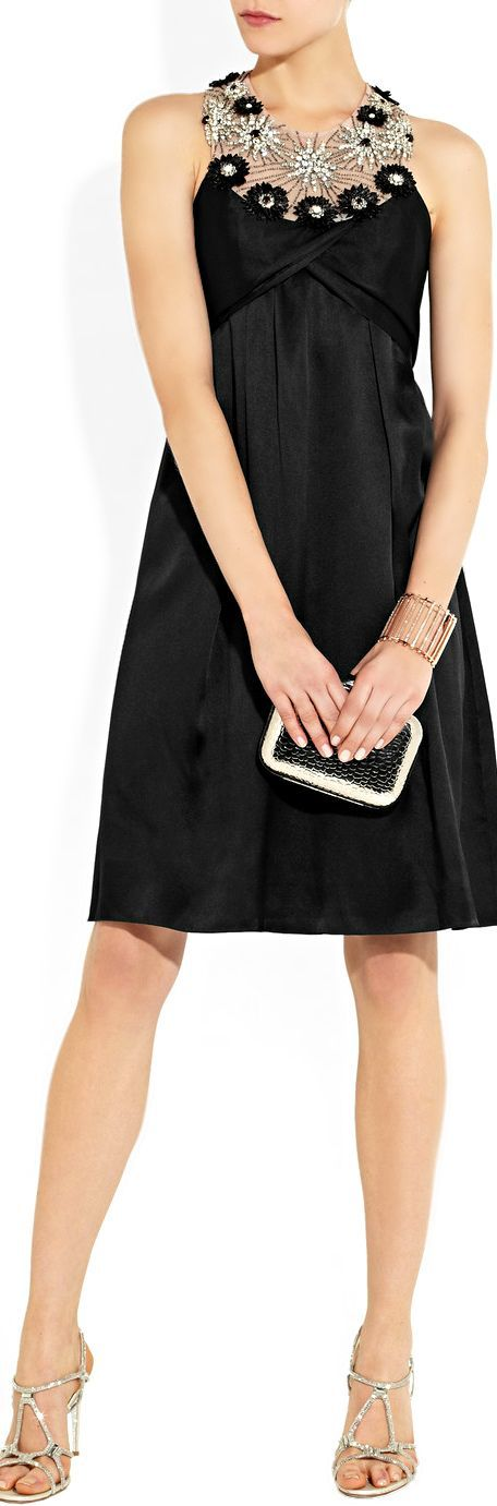 Temperley London ● Black Silk Dress