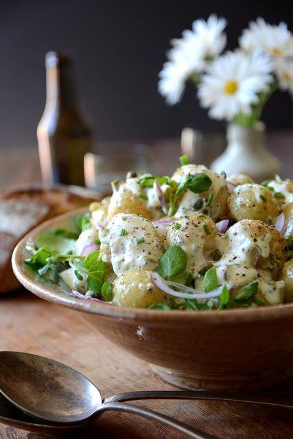 Kartoffelsalat mit Garlicky Kräuterdressing