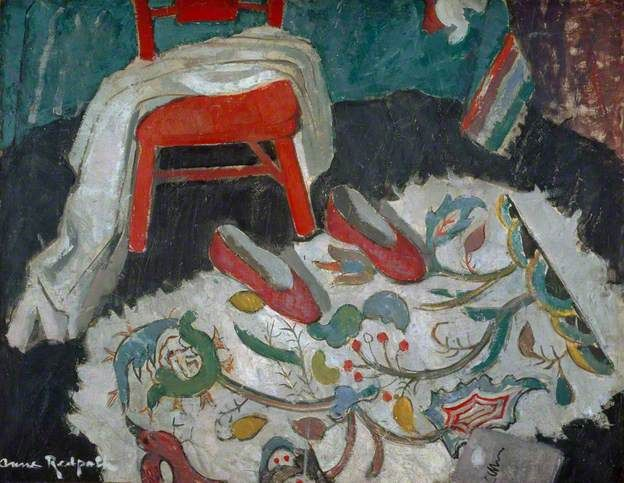The Indian Rug (Red Slippers). Anne Redpath