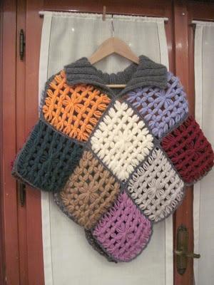 Le cose di Mys@: 2° Poncho Multicolor Telaio Maria Gio