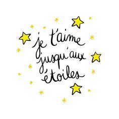 Je t'aime jusqu'aux étoiles www.crayondhumeur.com
