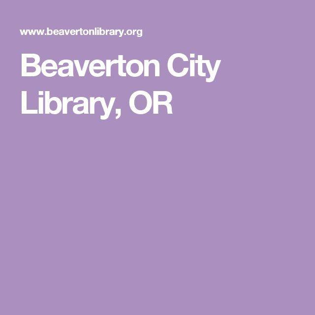 Beaverton City Library, OR