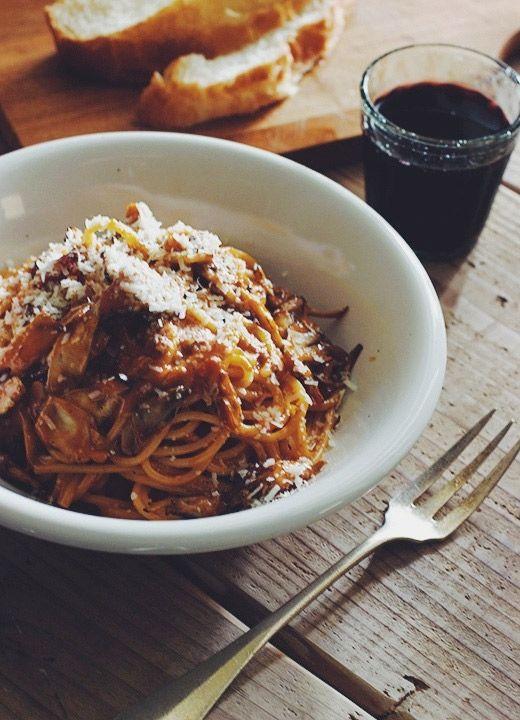 Spaghetti con granchio al pomodoro alla crema
