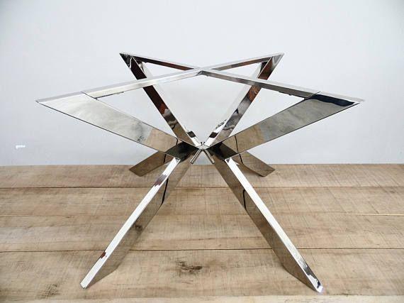 Round Stainless Steel Dining Table Base 28 H X 46 R Tug Round Table Base Mesa De Aco Design De Mobiliario Moderno Moveis De Aco