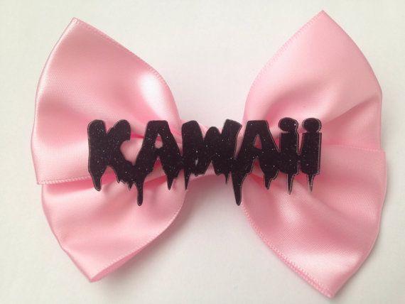 Pastel Goth Hair Bow Dripping Melting Kawaii Pastel by EllenJaimie