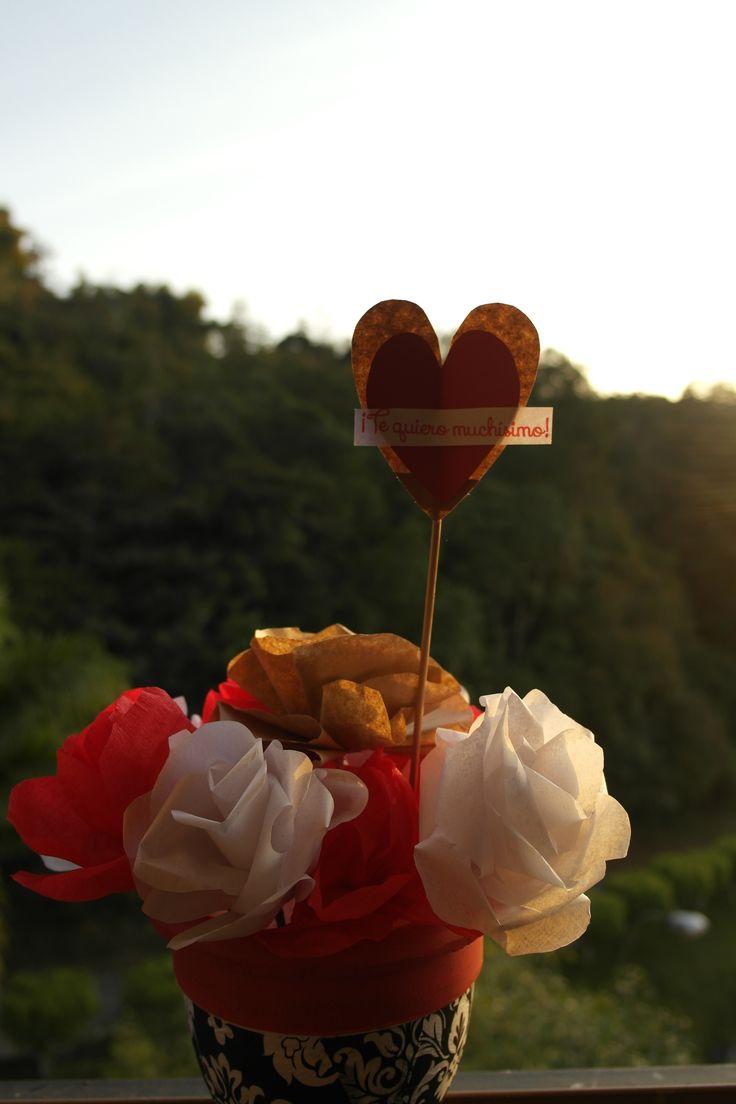 San Valentín! Flores de papel/paper flowers