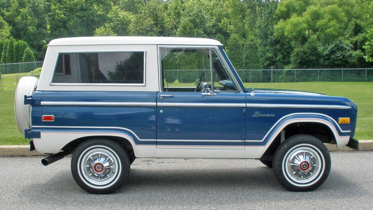 1976 Ford Bronco  'Born' same year as me and the paint job matches my eyes. Perfection.