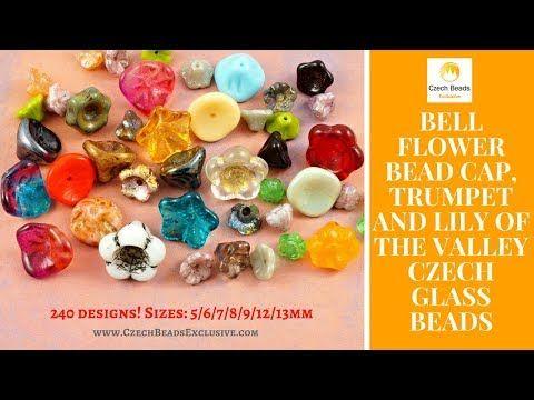 Video! BELL FLOWER Bead Cap, Trumpet & Lily of the Valley Czech Glass Beads   #czechbeadsexclusive #czechglassbeads