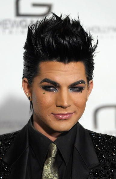 Singer Adam Lambert arrives at the 4th Annual Gridlock New Years Eve party, held on the Paramount Studios lot on December 31, 2009 in Hollywood, California.  (Photo by Michael Tullberg/Getty Images)