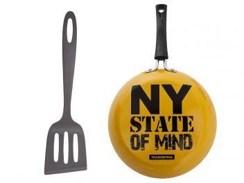 Frigideira Antiaderente Tramontina 24cm - 2 Peças Amarelo Vivacor New York State Of Mind