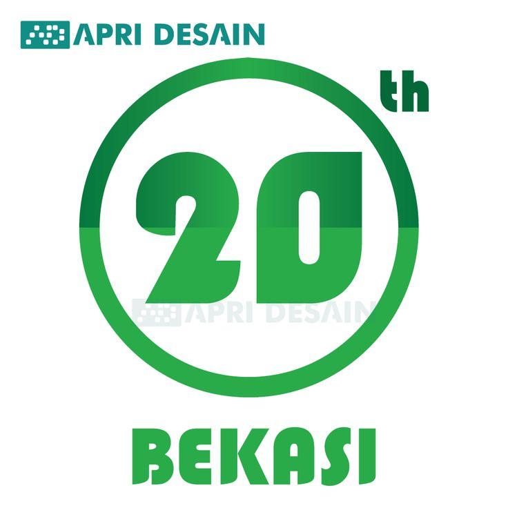 Sayembara logo HUT Kota Bekasi yang ke 20 by Apri Desain.