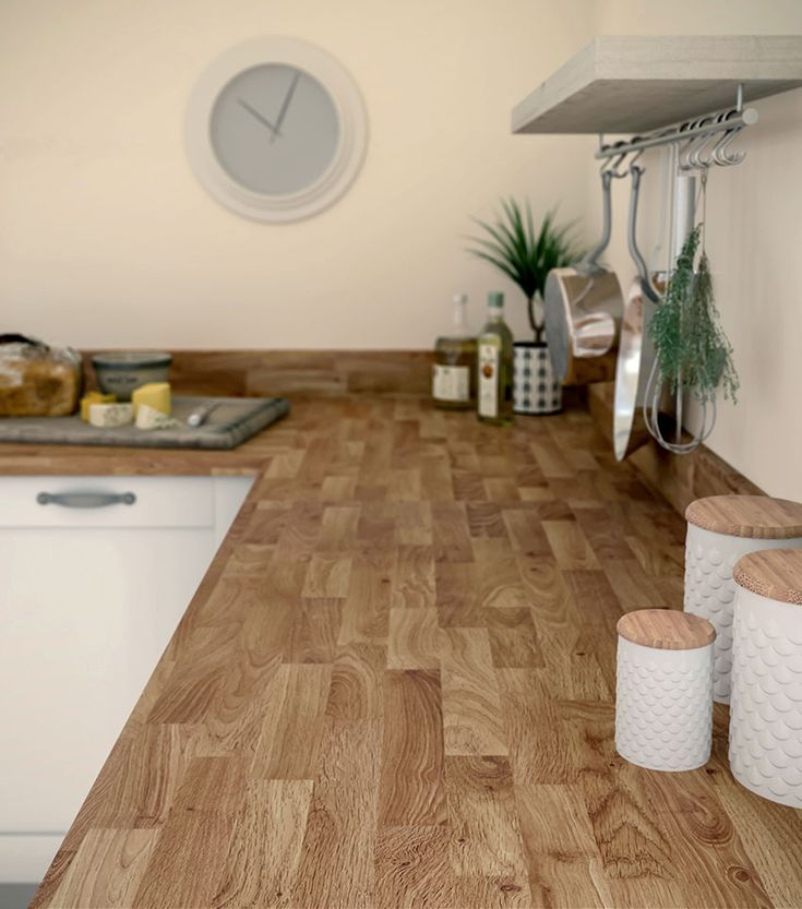 Choose a classic design that will never date.   Options - Stableford Oak Block.   #ClassicDesign #Classic #Design #Kitchen #Worktops #Worktop #LaminateKitchen #Laminate #Wood #Bushboard #Stableford #Oak #Options #Design #KitchenDesign #KitchenOptions #Ideas #Home #House #Lovely #Great