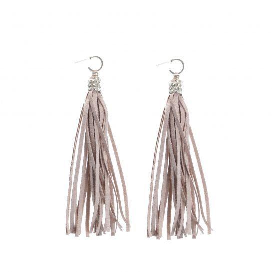 Studed Sudete Tassel Earrings
