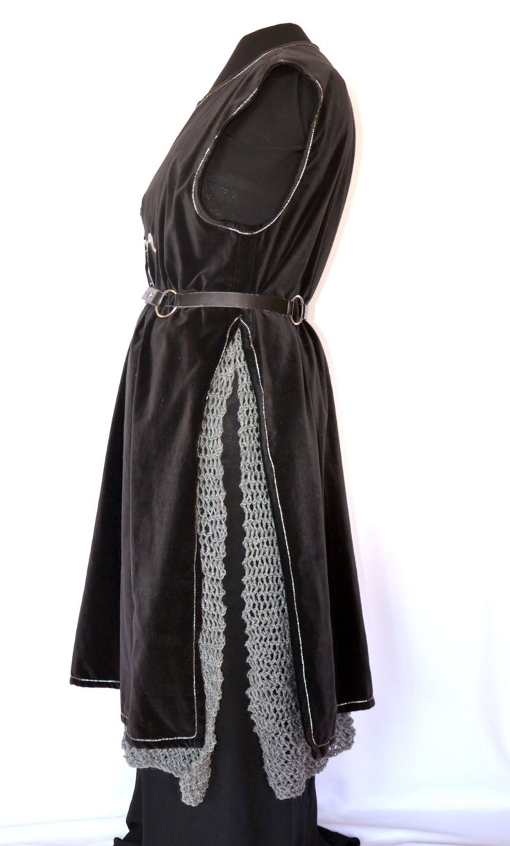 Mail Skirt, hand knit faux chain mail skirt armour for fantasy, SCA, LARP and sword and sorcery costumes and events, Aragorn costume by TheCenturiesChest on Etsy